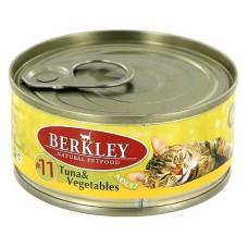 Berkley Adult Cat Menu Tuna & Vegetables #11 Беркли влажный корм для кошек, с тунцом овощами (Консервы)