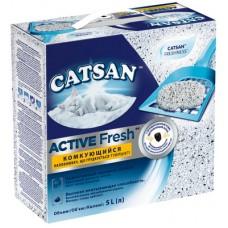 Catsan ACTIVE FRESH Наполнитель для кошек Катсан Актив Фреш комкующийся